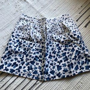 Blue and white mini skirt